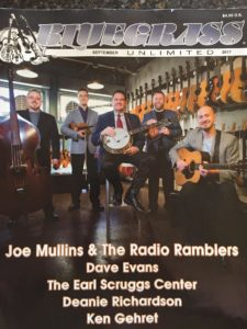Joe Mullins & The Radio Ramblers on Cover of Bluegrass Unlimited!