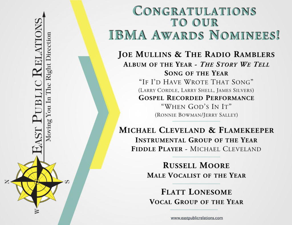 EPR Artists Garner Multiple IBMA Awards Nominations!