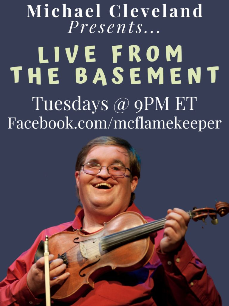 """Michael Cleveland Offers """"Live From The Basement"""" Concerts"""